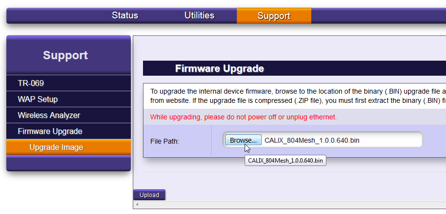 How to manually upgrade 804Mesh firmware