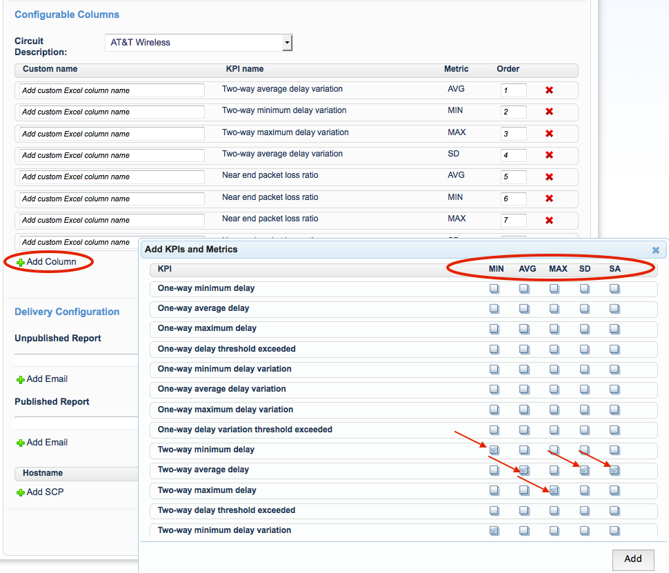 Service Verify Reporting for Mobile Carriers